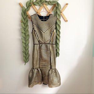 Maje Gold Art Deco Dress